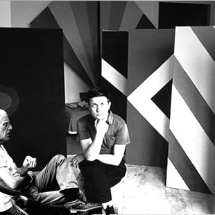 Kenneth Noland studio NY 1964