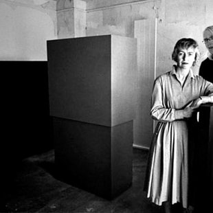 With Anne Truitt in studio, Washington 1962.