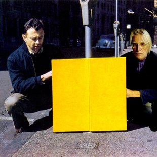 With Ellsworth Kelly and Yellow Relief Broard Street, NY 1955