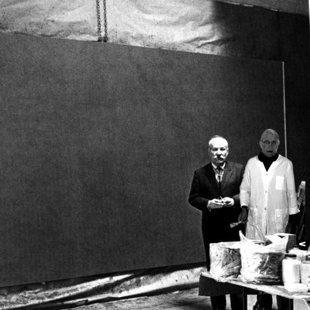Barnett Newman studio NY 1966