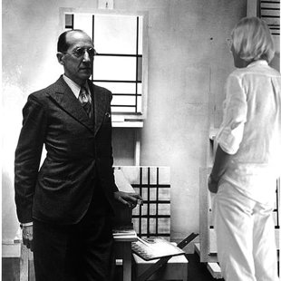 Paris 1933 in the studio of Piet Mondrian