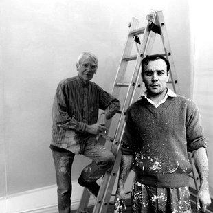 Avec Yves Klein Paris 1959