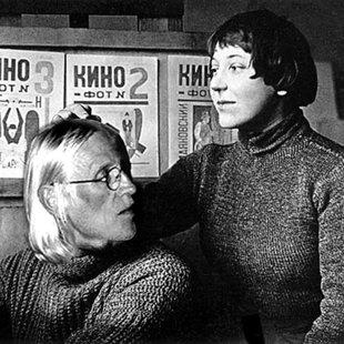 With Varvara Fiodorovna Stepanova Moscow 1920
